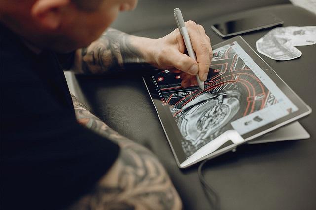 tablette pour dessiner Simbans PicassoTab 10 avec stylet.jpg