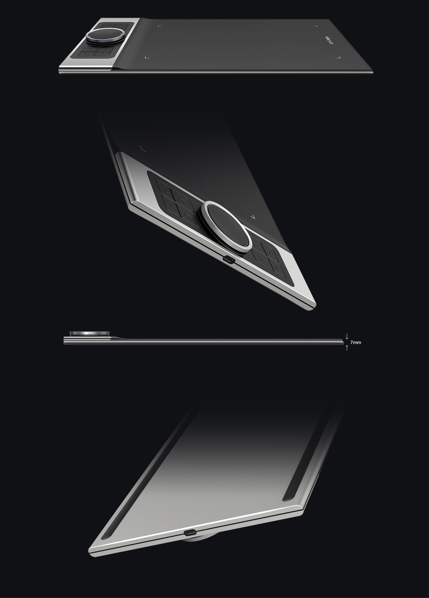 XP-Pen Deco Pro Series Android Drawing Tablet is crafted with an aluminum casing and features a 7mm thin curved casing